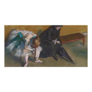 Waiting by Edgar Degas Card