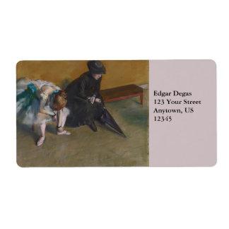 Waiting by Edgar Degas Label