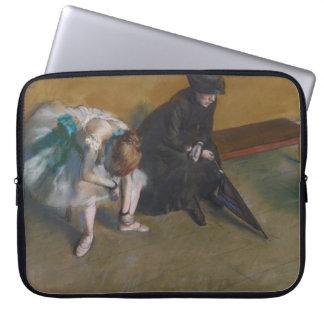 Waiting by Edgar Degas Computer Sleeve