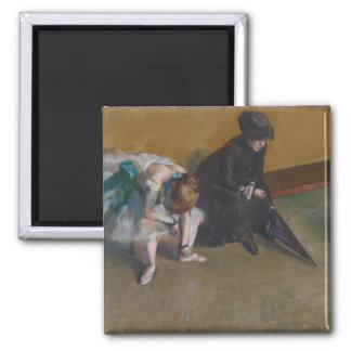 Waiting by Edgar Degas Magnet