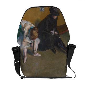 Waiting by Edgar Degas Courier Bag
