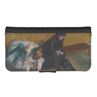 Waiting by Edgar Degas Phone Wallet