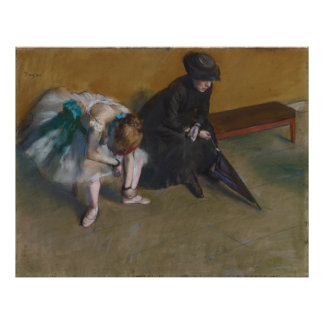 Waiting by Edgar Degas Poster