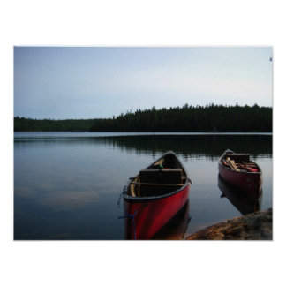 Waiting Canoes Poster