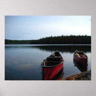 Waiting Canoes Print