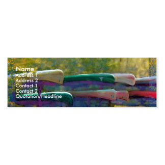 Waiting Canoes Profile Card Double-Sided Mini Business Cards (Pack Of 20)