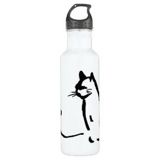 Waiting Cat 24oz Water Bottle