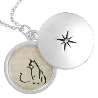 Waiting Cat Custom Necklace