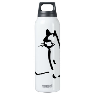 Waiting Cat Thermos Water Bottle