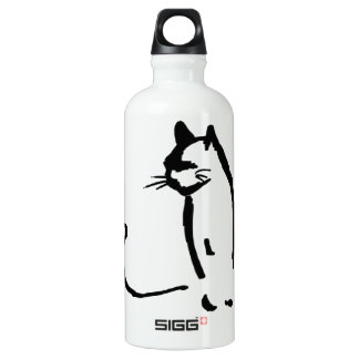 Waiting Cat Water Bottle