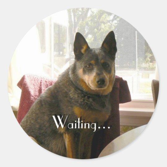 Waiting... Classic Round Sticker
