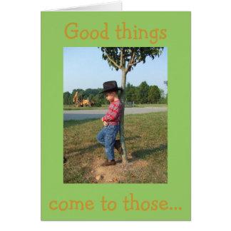 Waiting Cowboy Card