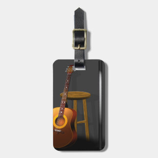 Waiting Encore Guitar Stool and Mike Travel Bag Tags