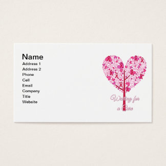 Waiting for A Cure Breast Cancer Pink Ribbon Tree Business Card