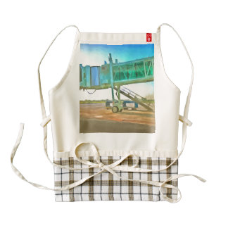 Waiting for a plane zazzle HEART apron