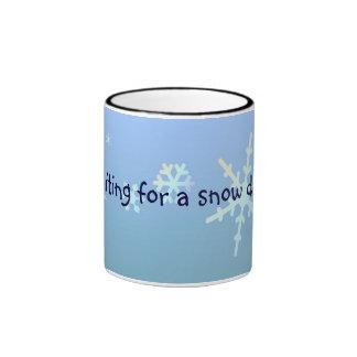 Waiting for a snow day... ringer mug