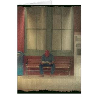 Waiting For A Train Card
