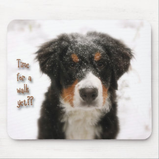 Waiting for a walk mouse pad