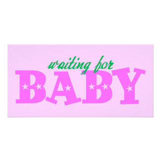 Waiting for Baby Photo Cards
