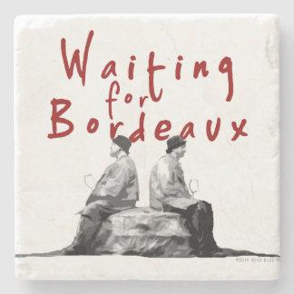 Waiting for Bordeaux Stone Coaster