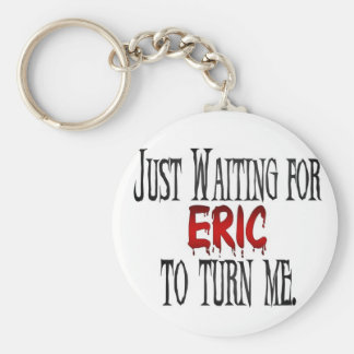 Waiting for Eric to turn me Basic Round Button Keychain