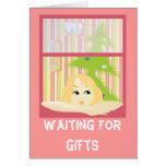 Waiting for gifts_card greeting card
