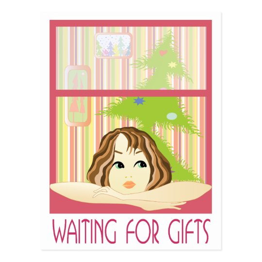 Waiting for gifts postcard