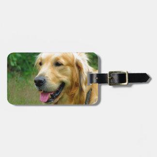 waiting for mom love golden retriever bag tag
