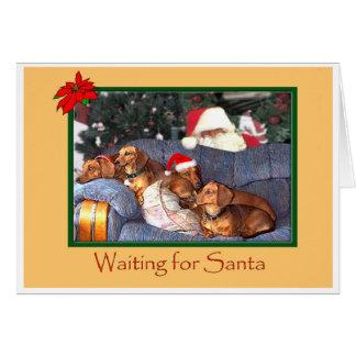 Waiting for Santa Card