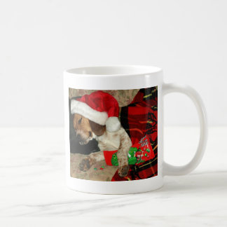 Waiting for Santa -Christmas Snoopy Beagle Dog Coffee Mug