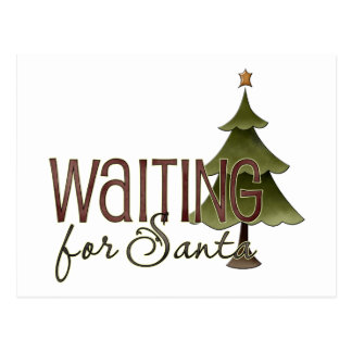 Waiting For Santa Christmas Tree Design Postcard