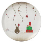 Waiting for Santa Claus Dinner Plates