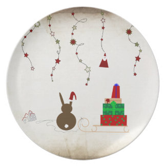 Waiting for Santa Claus Melamine Plate