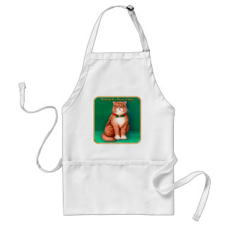 Waiting for Santa Claws Adult Apron