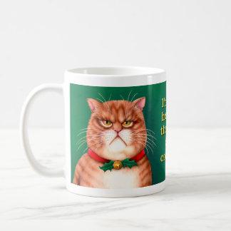 Waiting for Santa Claws Coffee Mug