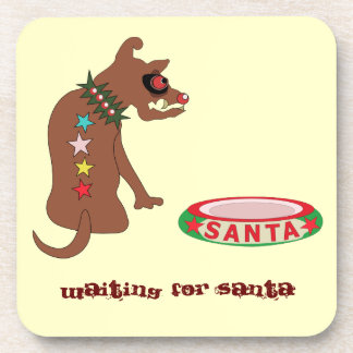Waiting for Santa Coaster