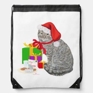 Waiting for Santa Drawstring Bag
