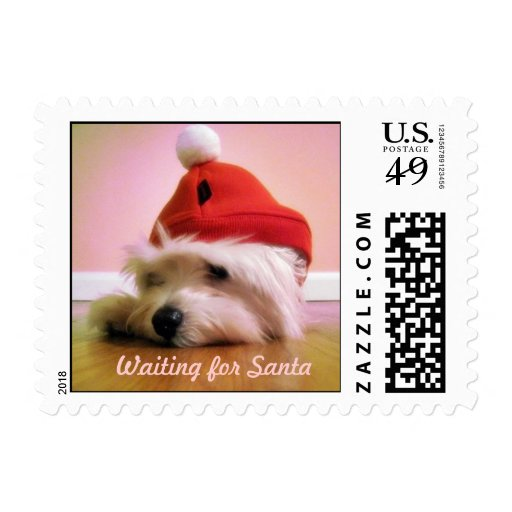 Waiting for Santa Postage Stamps