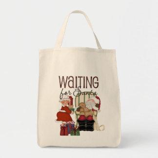 Waiting for Santa Tote