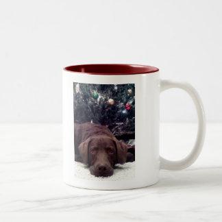 Waiting for Santa Two-Tone Coffee Mug
