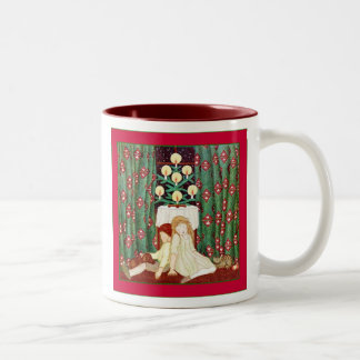 Waiting For Santa ~ Vintage Christmas Two-Tone Coffee Mug
