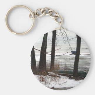 Waiting for Spring keychain