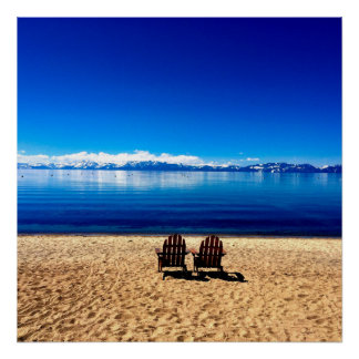 Waiting for Summer on Lake Tahoe Poster