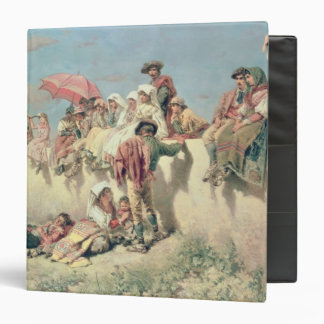 Waiting for the Blessing outside Rome 3 Ring Binder