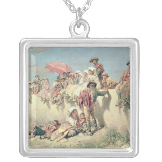 Waiting for the Blessing outside Rome Silver Plated Necklace