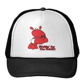 waiting for the feast funny lobster waiter hat