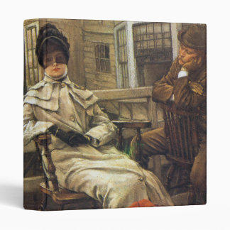 Waiting for the Ferry, by James Tissot 3 Ring Binder