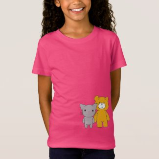 Waiting for the Illuminati: Cat and Bear T-Shirt