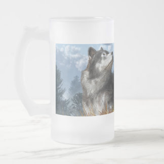 Waiting for the Snow Frosted Glass Beer Mug