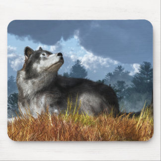 Waiting for the Snow Mouse Pad